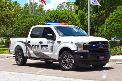The New Belleair Police Department Pickup Truck presented by the Belleair Community Foundation made possible by a generous donation by resident Arv Hickerson.